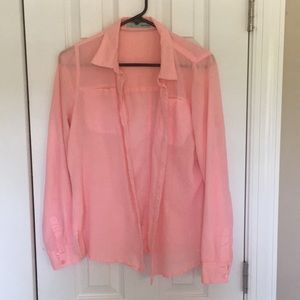 Coral button up